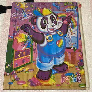 Lisa Frank Painter Panda Bear Pencil Case Pouch